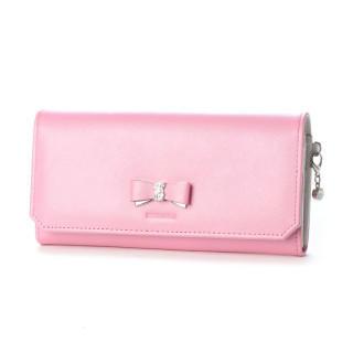 ミッシュマッシュ(MISCH MASCH)の新品 カロン 長財布 レザー 本革 リボン パールラメ ピンク(財布)