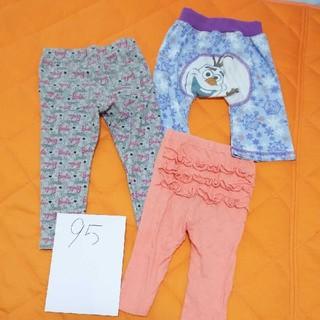 フタフタ(futafuta)の最終三枚セット フタフタ 95 Barbie アナ雪レギンス ズボン  パンツ(パンツ/スパッツ)