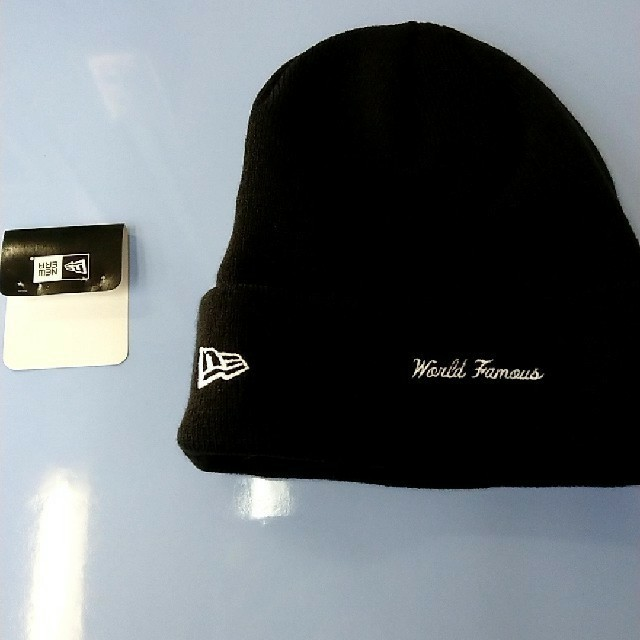 Supreme(シュプリーム)のSupreme New Era Box Logo バンダナ ビーニー ニット帽 メンズの帽子(ニット帽/ビーニー)の商品写真