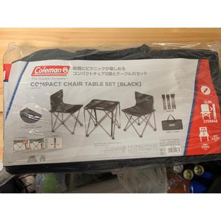 Coleman - Coleman 直営店限定カラー ブラック テーブルチェアセット