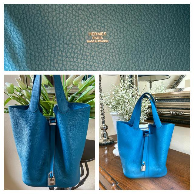 Hermes(エルメス)の大変美品◆ブルーイズミール◆ピコタンロックGM レディースのバッグ(ハンドバッグ)の商品写真
