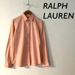 Ralph Lauren - RALPH LAUREN 長袖 シャツ 胸 ワンポイント 刺繍 ピンク