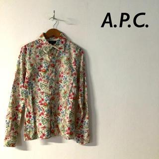 A.P.C - 【美品】A.P.C. フランス製 花柄 総柄 長袖 コットン シャツ ブラウス