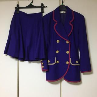 バブル期 金ボタン スカート スーツ(スーツ)