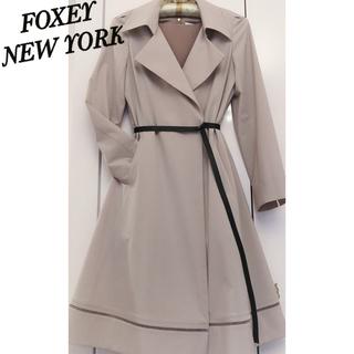 FOXEY - FOXEY フォクシー レイニー トレンチ コート ウォッシャブル✨ベルト付40