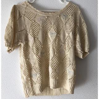 ハニーミーハニー(Honey mi Honey)のリボンビジューサマーブラウス(シャツ/ブラウス(半袖/袖なし))