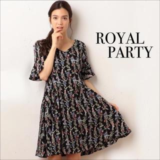 ロイヤルパーティー(ROYAL PARTY)のROYAL PARTY 袖フレア タック ワンピース♡デュラス RESEXXY(ミニワンピース)