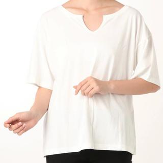 アングリッド(Ungrid)の新品☆スリットネックハーフスリーブtee(Tシャツ(半袖/袖なし))
