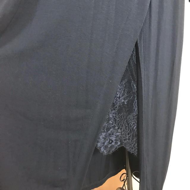 BCBGMAXAZRIA(ビーシービージーマックスアズリア)のBCBGニット⭐️レース付きワンピース レディースのワンピース(ロングワンピース/マキシワンピース)の商品写真
