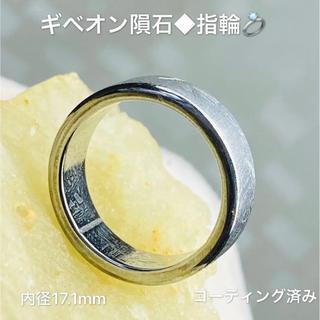 ◆ソーティング鑑定付き◆宇宙パワー・隕石【リング ギベオン隕石】外径22.2mm(リング(指輪))