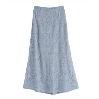 アクシーズファム(axes femme)のボーダーロングスカート(ロングスカート)