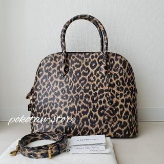 Balenciaga - 美品【バレンシアガ】ヴィル レオパード Mサイズ トップハンドル ハンドバッグ
