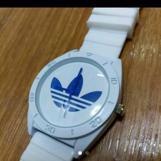 アディダス(adidas)のアディダス ラバーベルトブルークォーツ(腕時計)