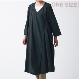 ムジルシリョウヒン(MUJI (無印良品))の無印良品   ▫️インド綿アングラカ  ONE SIZE・ 黒(ひざ丈ワンピース)