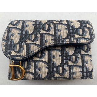 ディオール(Dior)の超美品! Dior SADDLE カードケース オブリーク ジャカード(名刺入れ/定期入れ)