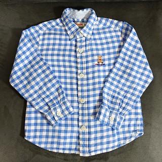 ミキハウス(mikihouse)のチェックシャツ ミキハウス 100cm 長袖(ブラウス)
