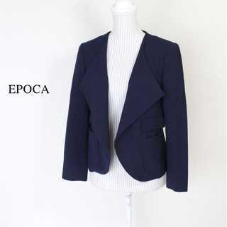 エポカ(EPOCA)のエポカ★ドレープジャケット アウター 羽織 日焼け防止 IT40(M) ネイビー(テーラードジャケット)