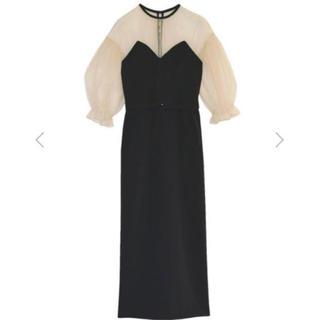 アメリヴィンテージ(Ameri VINTAGE)の【祝日限定値下げ】AIRY SLEEVE TIGHT DRESS Mサイズ(ロングドレス)