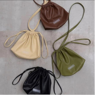 BEAUTY&YOUTH UNITED ARROWS - MAISON SPECIAL VEGAN LEATHER 巾着bag メゾン