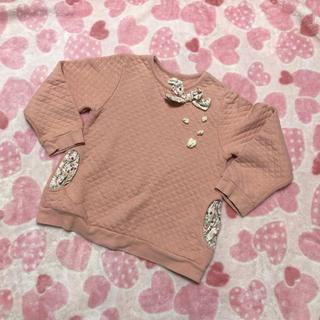 ビケット(Biquette)のビケット ピンク トレーナー(Tシャツ/カットソー)