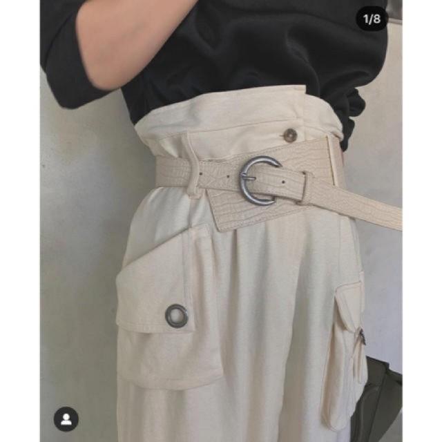 Ameri VINTAGE(アメリヴィンテージ)のAmeri【タグ付新品】お買い得♥ベルト付ワークレーススカート レディースのスカート(ロングスカート)の商品写真