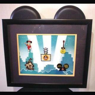 ディズニー(Disney)のMickey Mouse Club フレームピンバッチ(絵画/タペストリー)
