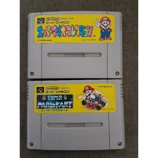スーパーファミコン(スーパーファミコン)のSFCスーパーファミコンソフト スーパーマリオ2本セット(家庭用ゲームソフト)