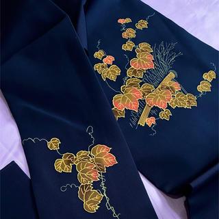 〈蔦の葉模様の名古屋帯〉塩瀬 織り出し トールサイズ   長め
