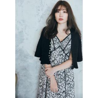 Lace Trimmed Floral Dress Herlipto black