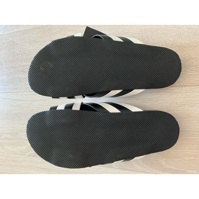 ZARA(ザラ)のZARA ストライプ リボン サンダル 35 23㎝ レディースの靴/シューズ(サンダル)の商品写真