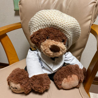 ラルフローレン(Ralph Lauren)のラルフローレン ニットキャップ ベレー帽 クリーム色(ハンチング/ベレー帽)