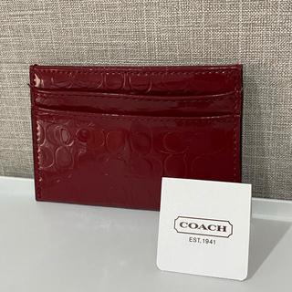 コーチ(COACH)の【新品】COACHカードケース(名刺入れ/定期入れ)