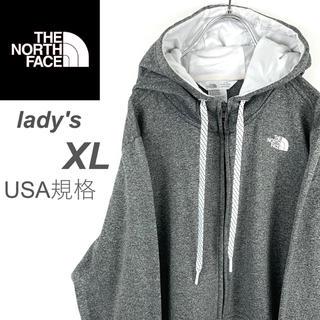 THE NORTH FACE - USA規格 古着【ザ・ノースフェイス】ジップアップパーカー グレー ビッグサイズ