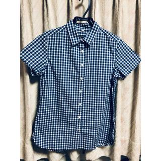 ムジルシリョウヒン(MUJI (無印良品))の無印良品レディースシャツ ブルーチェック(シャツ/ブラウス(半袖/袖なし))