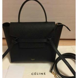 celine - 美品♡CELINE ベルトバッグ マイクロ/グレインドカーフスキン ♡