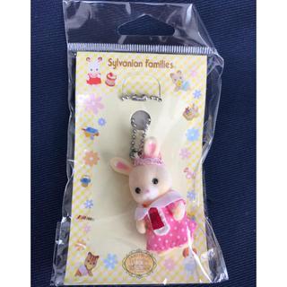 エポック(EPOCH)の【新品】シルバニア はなぞのウサギキーホルダー ピンク(ぬいぐるみ/人形)