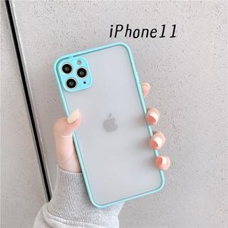 大人気!iPhone11 シンプル カバー ケース ミント(iPhoneケース)