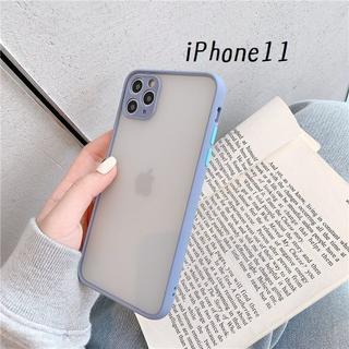 大人気!iPhone11 シンプル カバー ケース グレー(iPhoneケース)