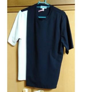 ハイク(HYKE)のHYKE バイカラー Tシャツ ドゥロワー セリーヌ グッチ マルニ マルジェラ(Tシャツ(半袖/袖なし))