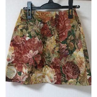 マーキュリーデュオ(MERCURYDUO)のMERCURYDUO ゴブラン柄台形スカート S(ミニスカート)