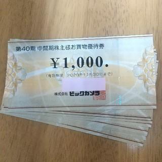 ビックカメラ株主優待券10000円分