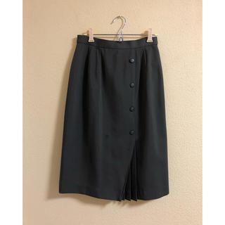 KBF - オリーブグリーン プリーツボックススカート