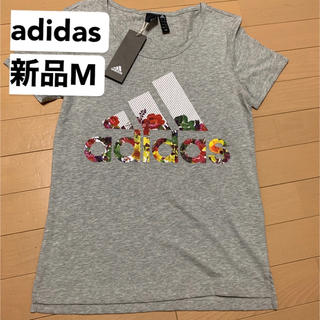 adidas - 最終処分 新品M  adidas アディダス W 半袖 フラワーTシャツ