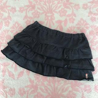 ミキハウス(mikihouse)のミキハウス♡ リーナちゃん デニム風 フリル ミニスカート 110cm(スカート)