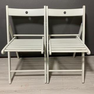 イケア(IKEA)のIKEA イケア TERJU  テリエ 折り畳み椅子 2脚(折り畳みイス)
