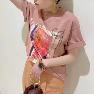 スナイデル(snidel)のデザインTシャツ(Tシャツ(半袖/袖なし))