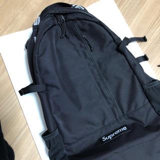 シュプリーム(Supreme)のsupreme バックパック 18SS 黒 中古 美品(バッグパック/リュック)