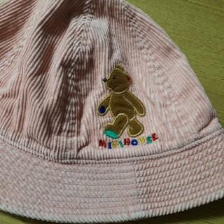 ミキハウス(mikihouse)のミキハウス ベビー帽子 54センチ コーデュロイ チエコサク(帽子)