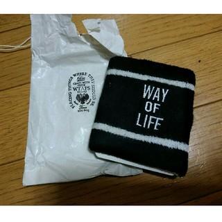ダブルタップス(W)taps)のWTAPS ダブルタップス リストバンド 黒 WAY OF LIFE(バングル/リストバンド)