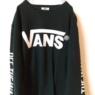 ヴァンズ(VANS)のVANS バンズ ビッグロゴ シンプルロゴ 両腕ロゴ サイズM(Tシャツ/カットソー(七分/長袖))